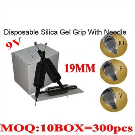 300pcs 9V  Disposable grips with needles 19MM