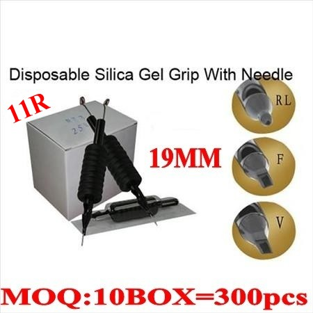 300pcs 11R Disposable grips with needles 19MM